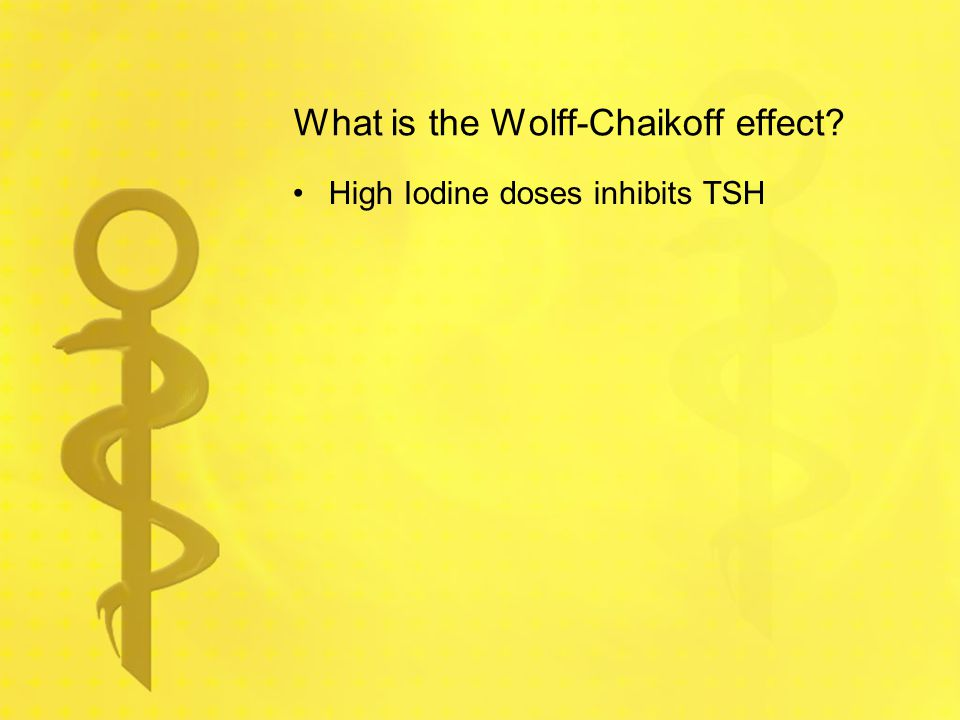 What is the Wolff-Chaikoff effect