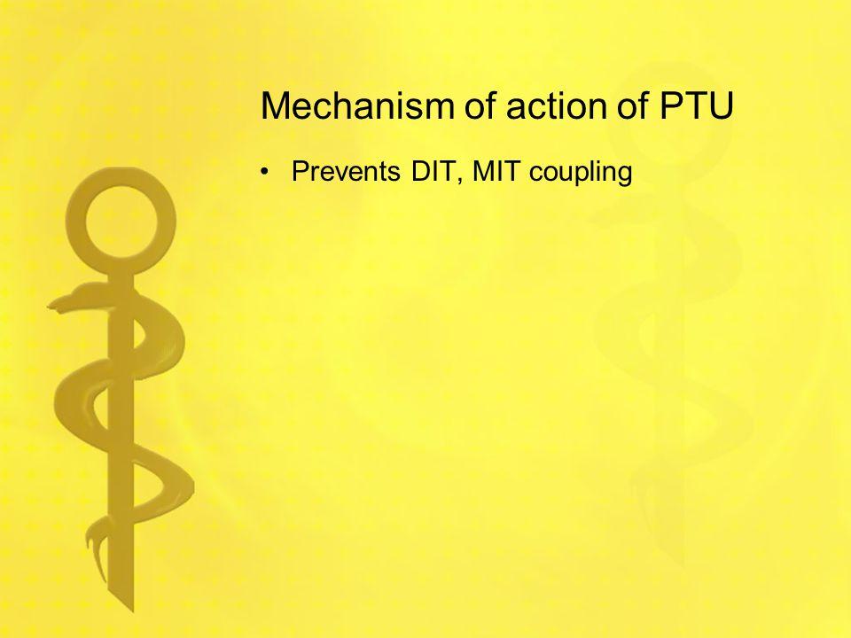 Mechanism of action of PTU