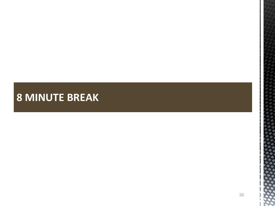 8 MINUTE BREAK