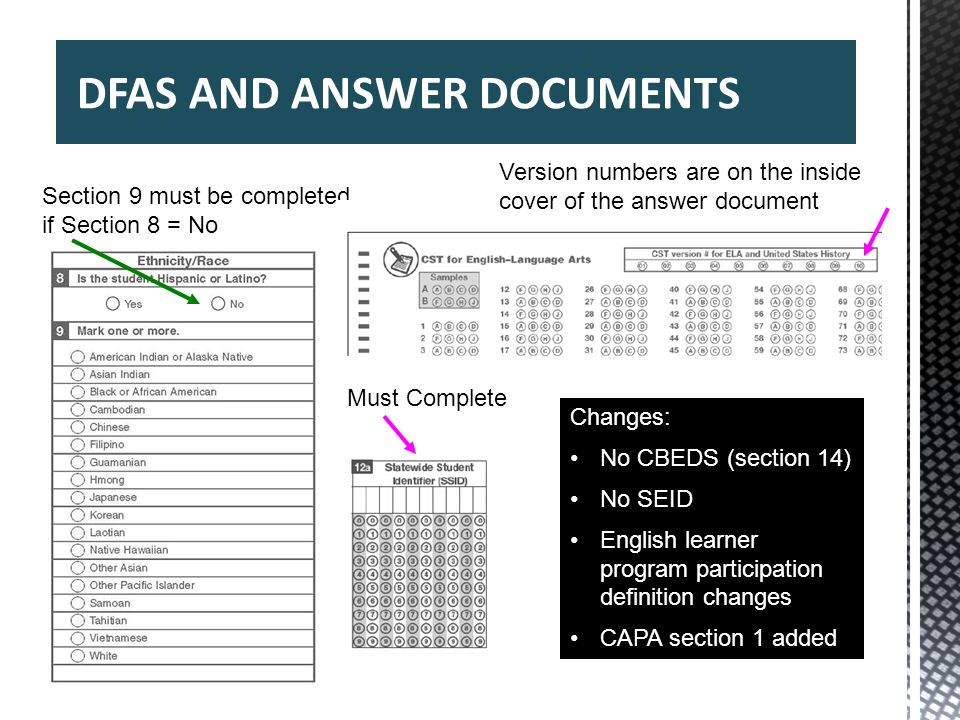 DFAS AND ANSWER DOCUMENTS