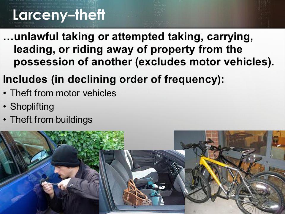 Larceny–theft