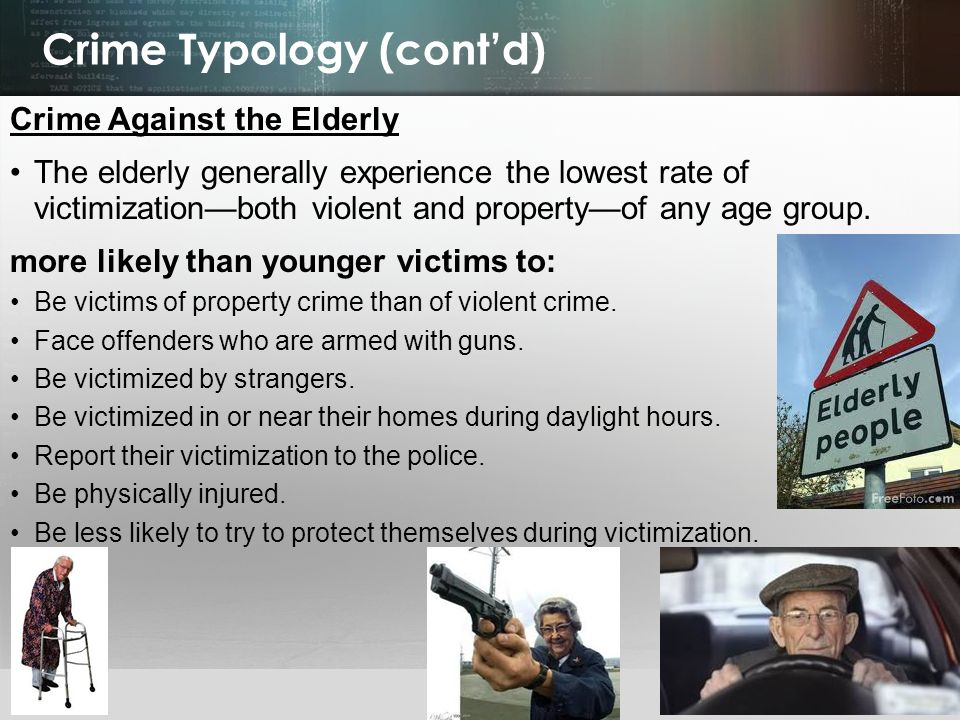 Crime Typology (cont'd)