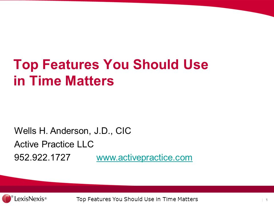 Top Features You Should Use in Time Matters