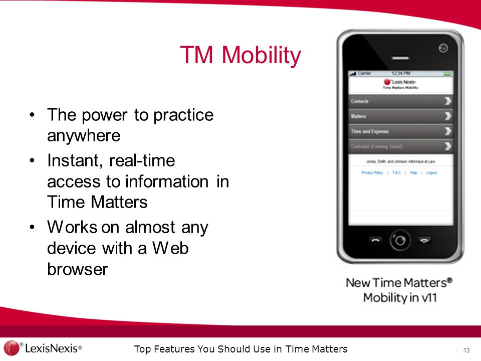 TM Mobility The power to practice anywhere