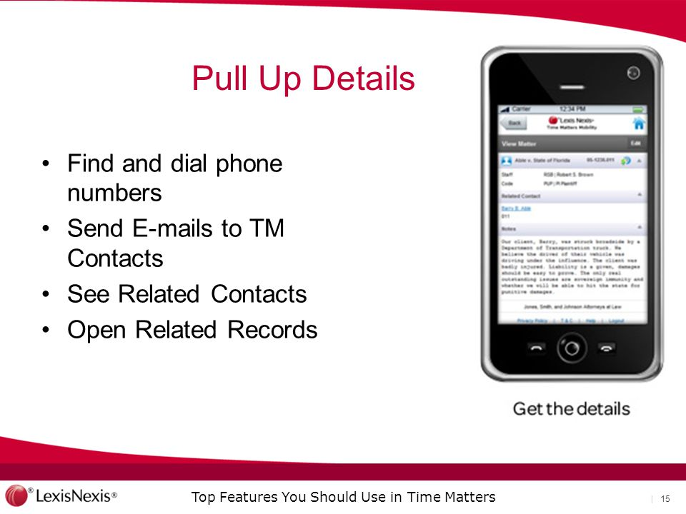 Pull Up Details Find and dial phone numbers