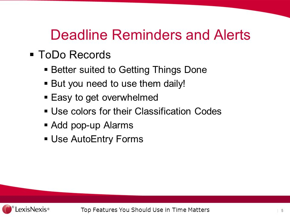 Deadline Reminders and Alerts
