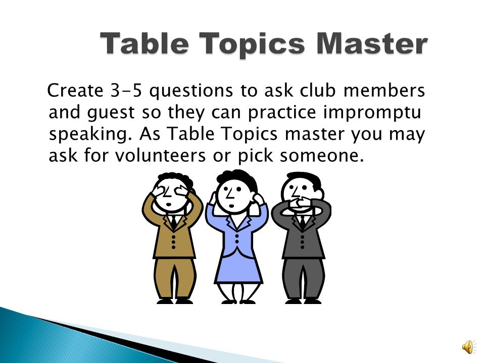 Table Topics Master