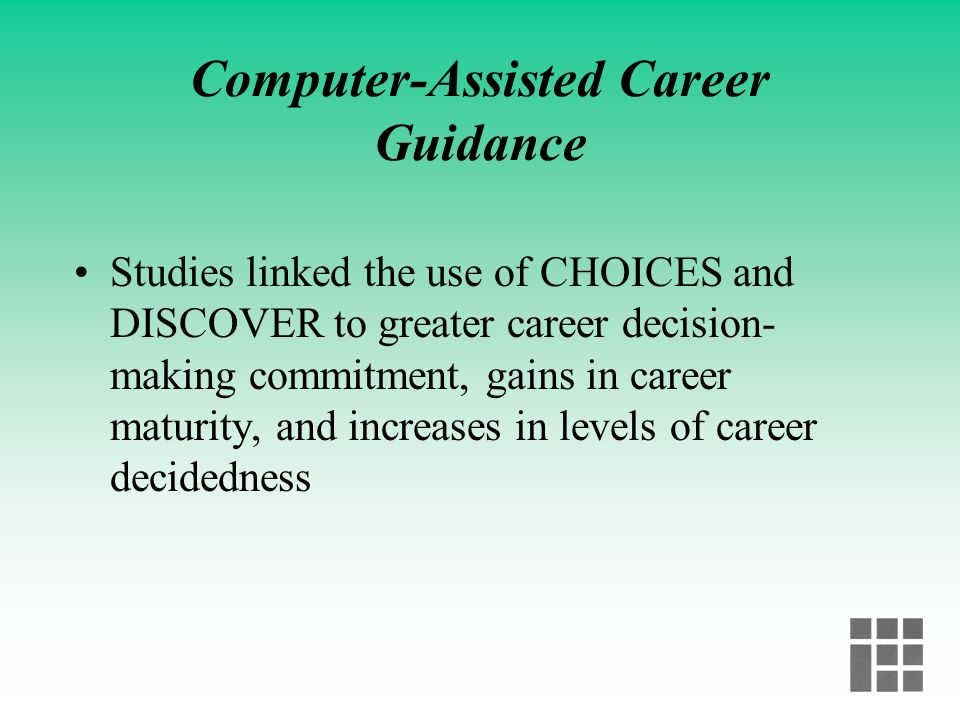 Computer-Assisted Career Guidance