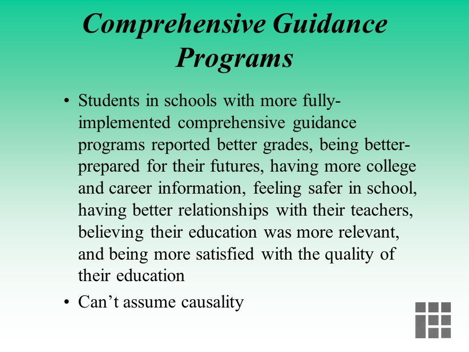 Comprehensive Guidance Programs