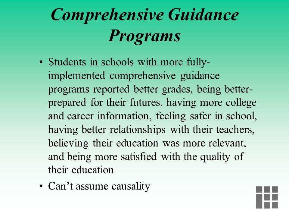 Comprehensive Guidance Programs