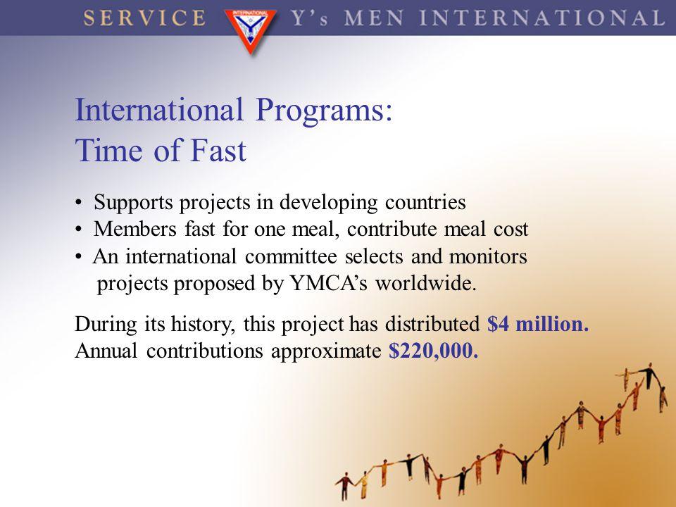 International Programs: Time of Fast