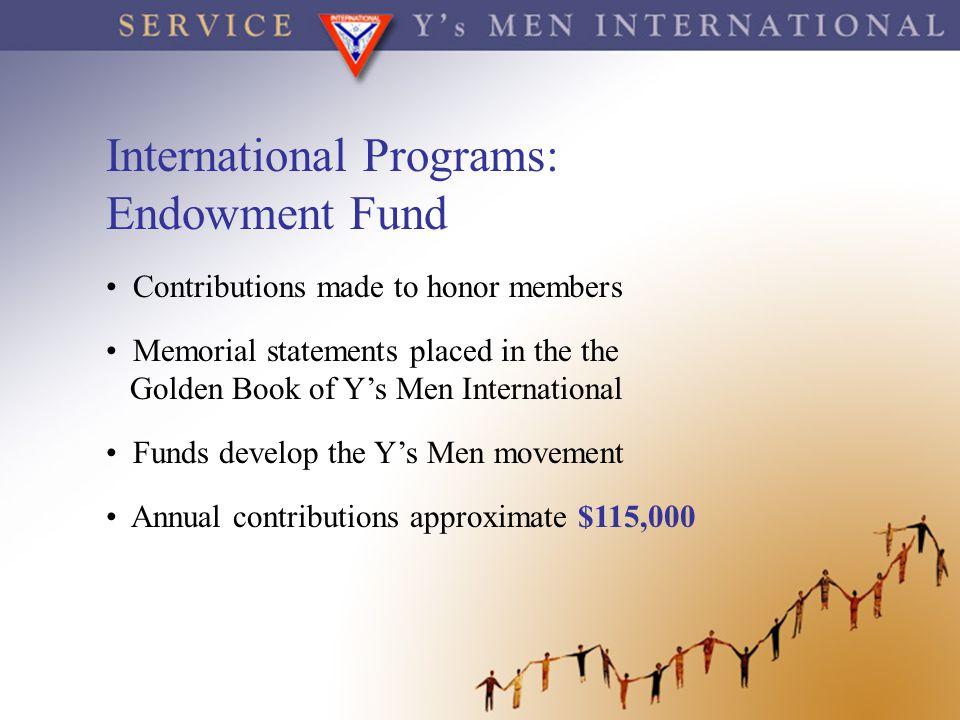 International Programs: Endowment Fund