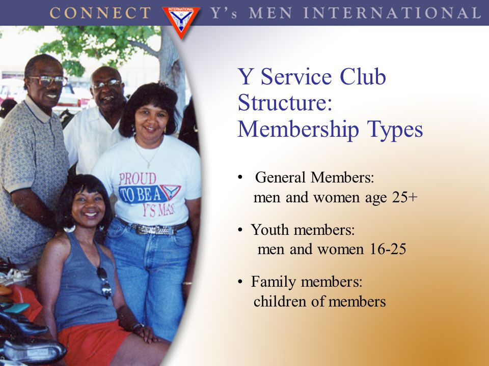 Y Service Club Structure: Membership Types