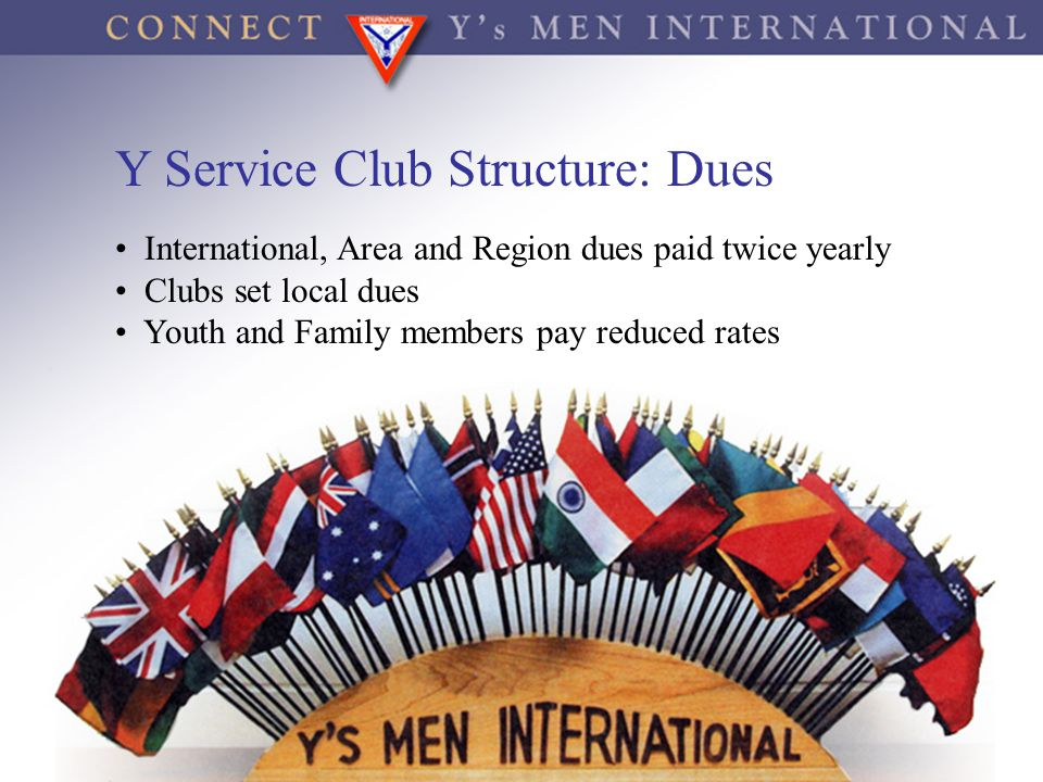 Y Service Club Structure: Dues