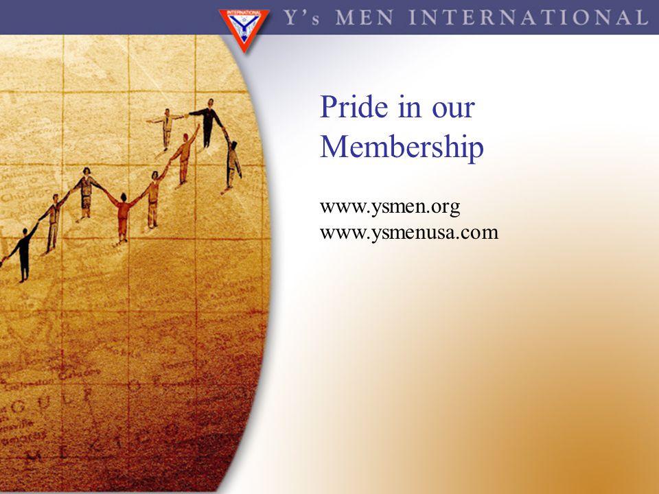 Pride in our Membership