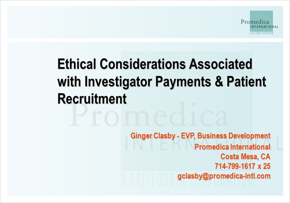 Ginger Clasby - EVP, Business Development