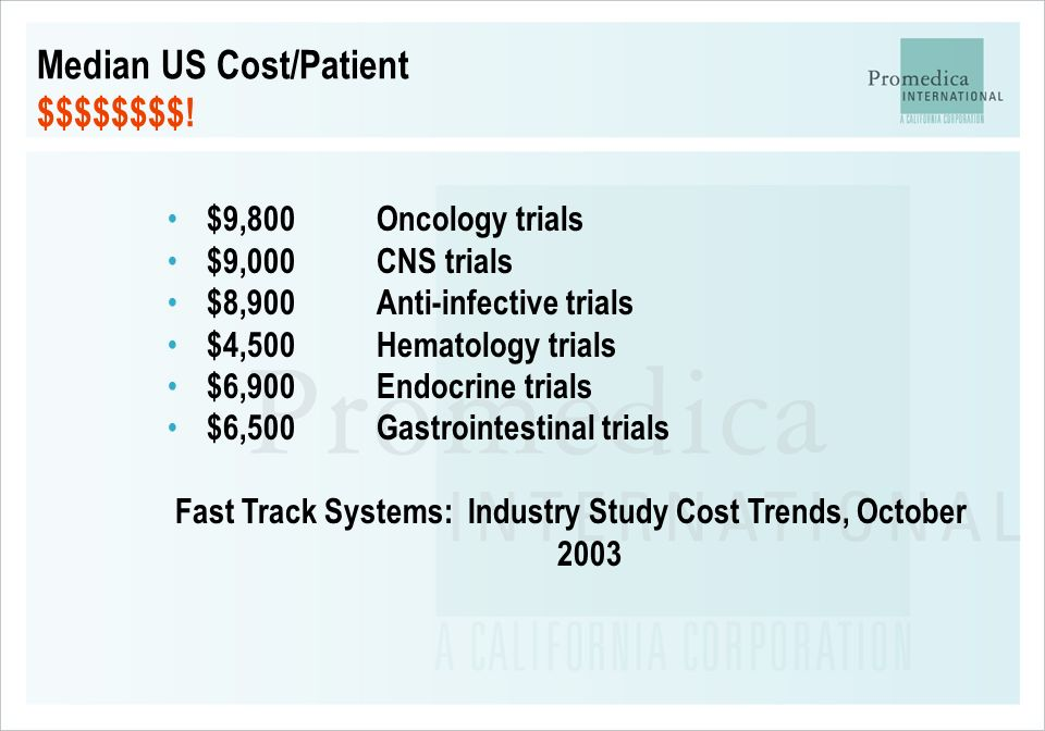 Fast Track Systems: Industry Study Cost Trends, October 2003