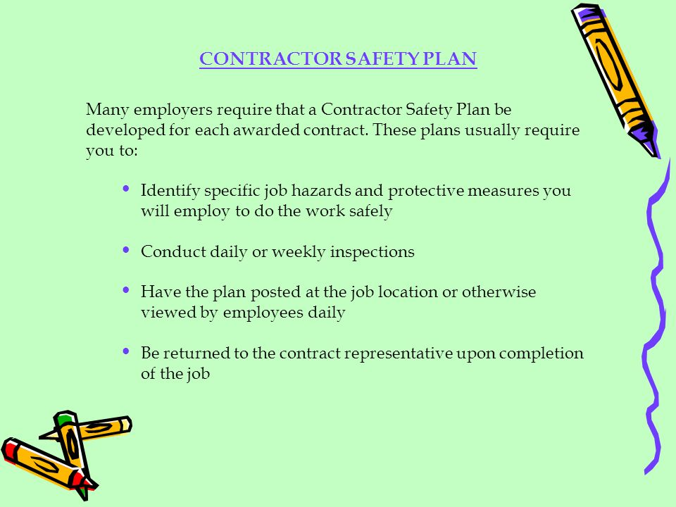 CONTRACTOR SAFETY PLAN