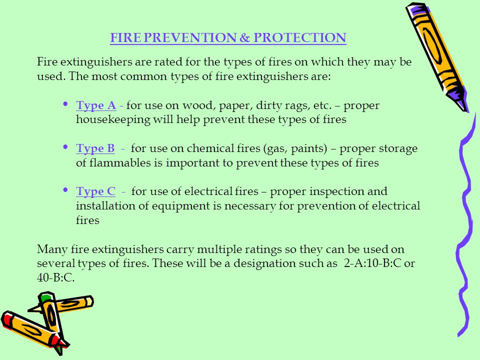 FIRE PREVENTION & PROTECTION