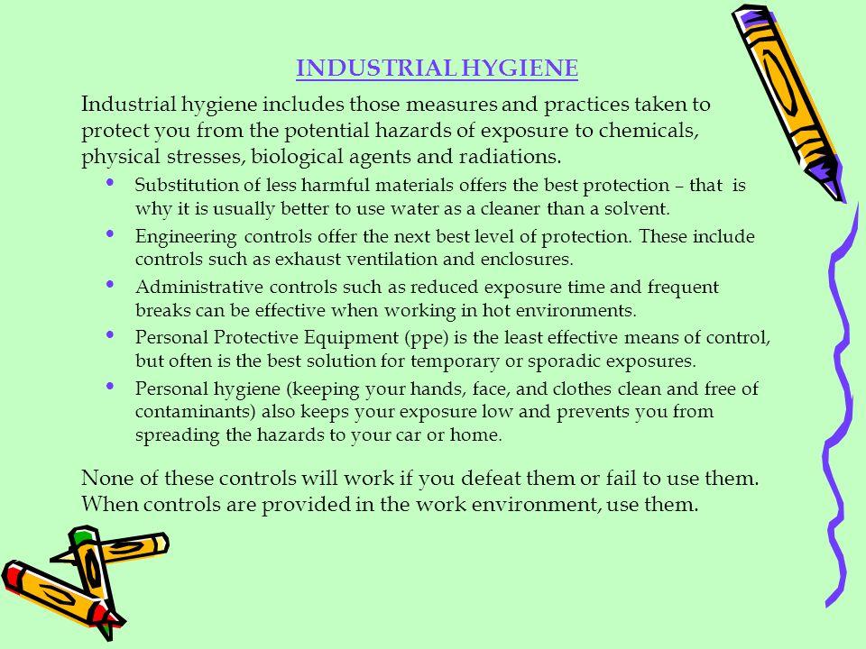 INDUSTRIAL HYGIENE