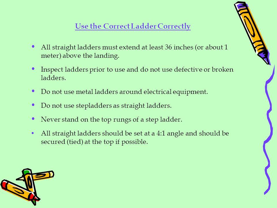 Use the Correct Ladder Correctly