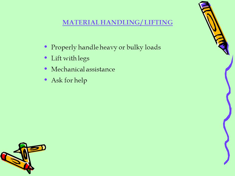 MATERIAL HANDLING / LIFTING