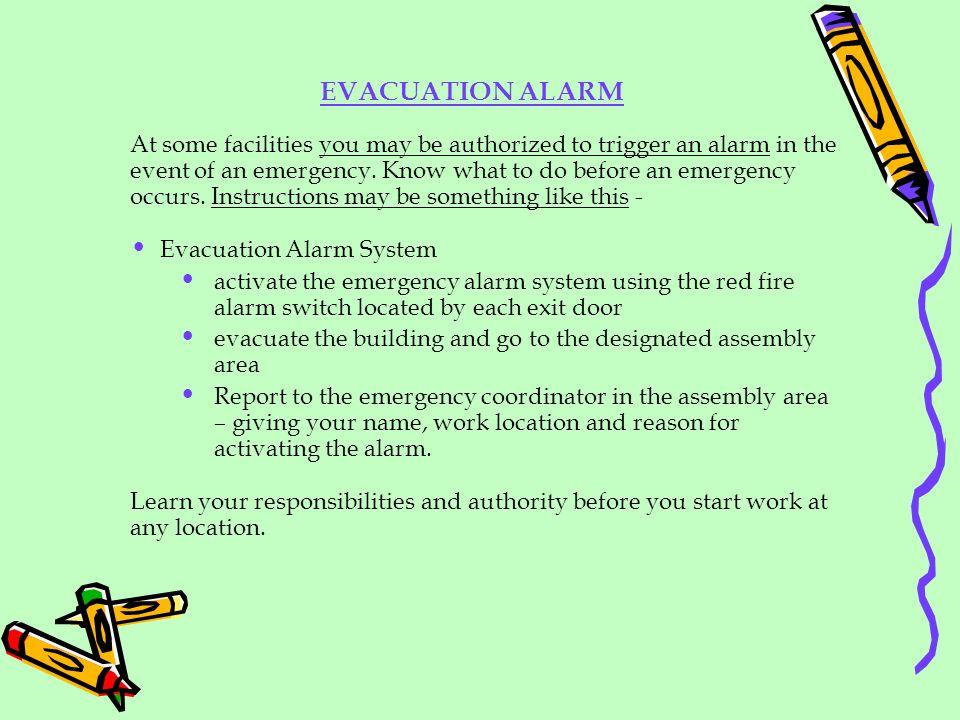 EVACUATION ALARM