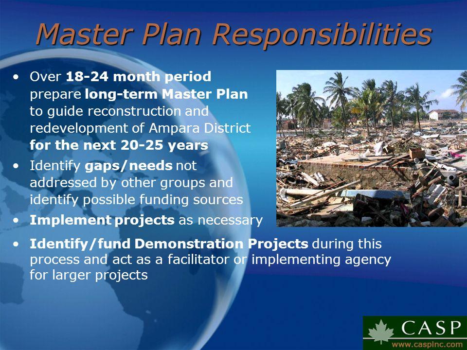 Master Plan Responsibilities