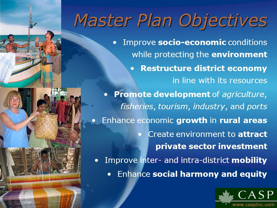 Master Plan Objectives