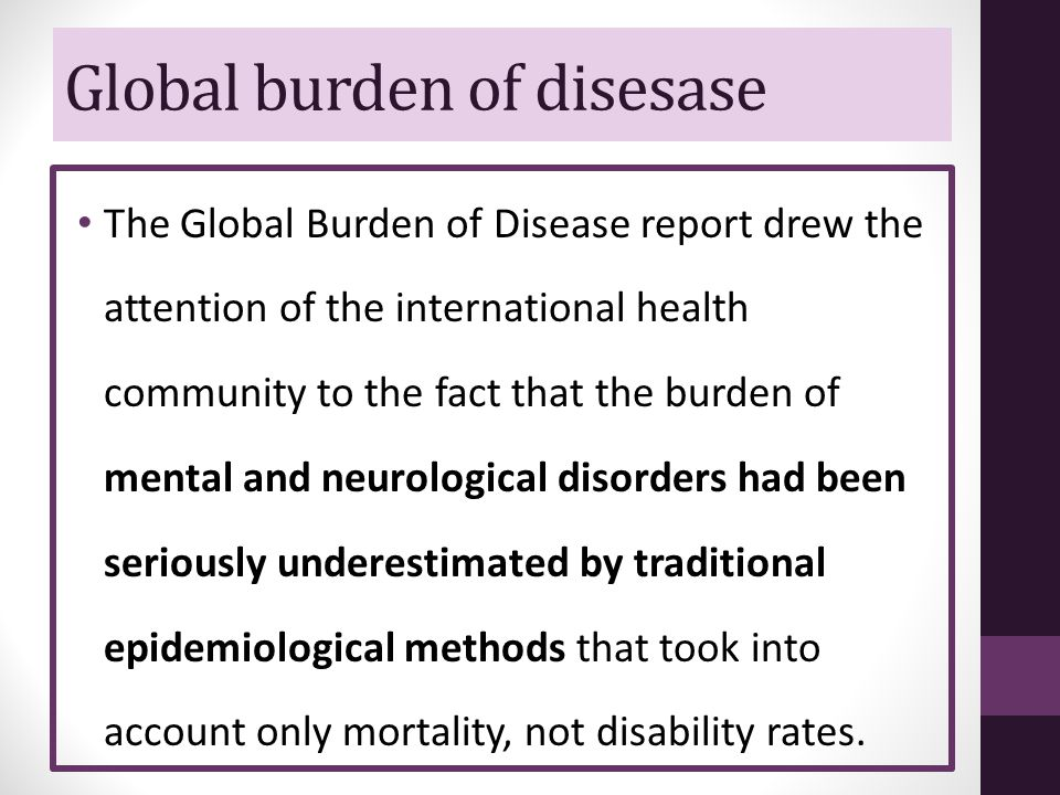 Global burden of disesase