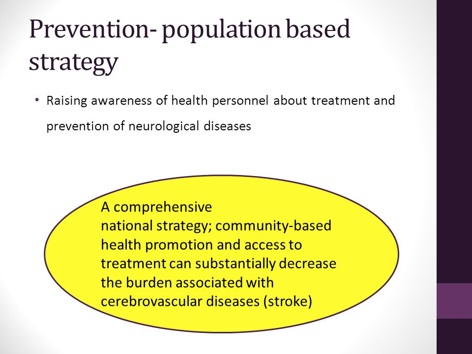 Prevention- population based strategy