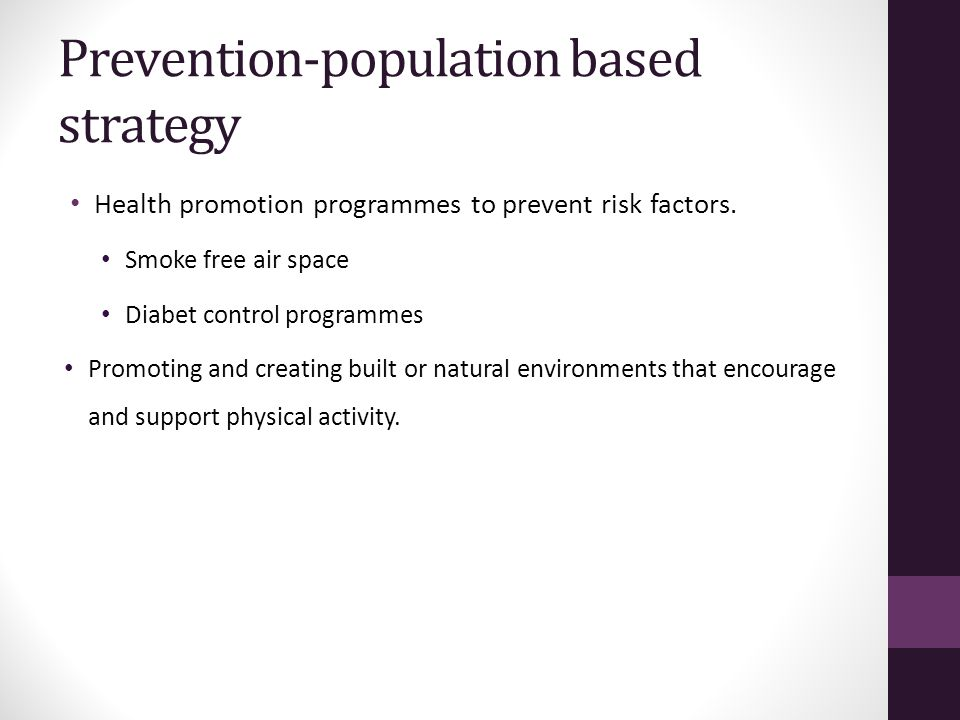 Prevention-population based strategy