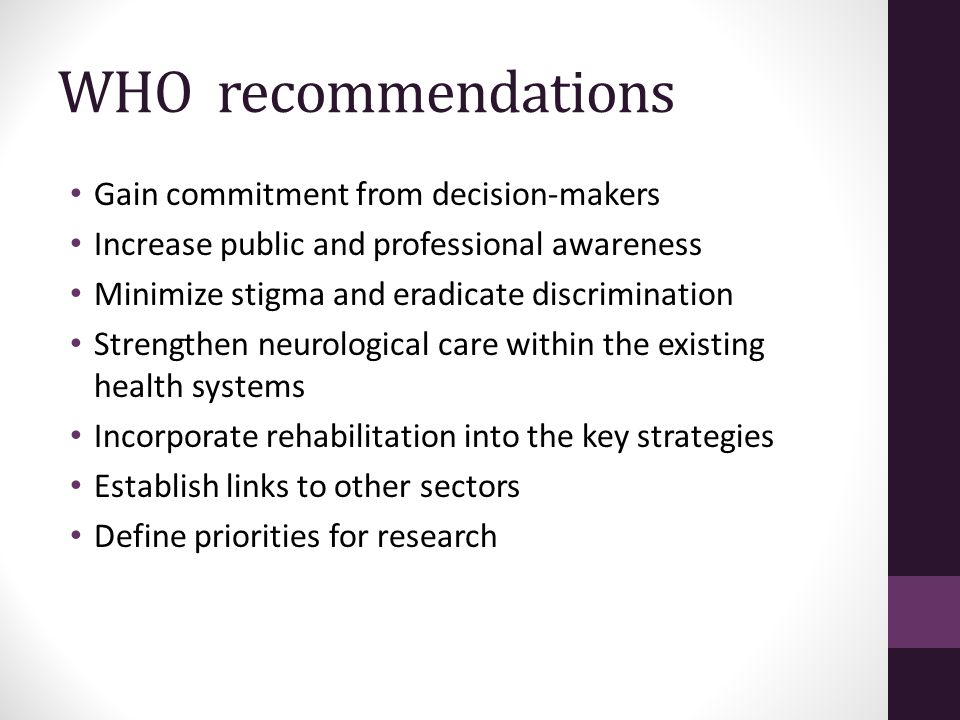 WHO recommendations Gain commitment from decision-makers