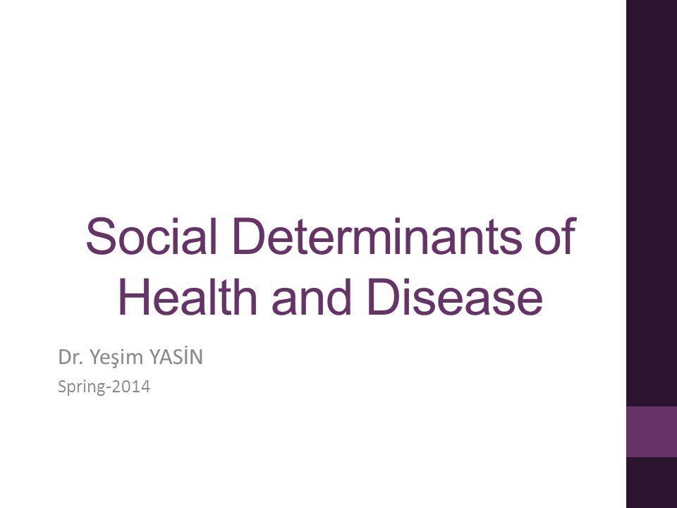 Social Determinants of Health and Disease