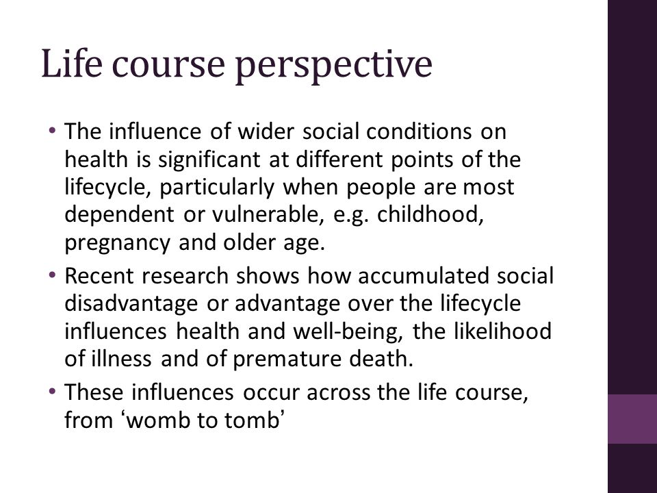 Life course perspective
