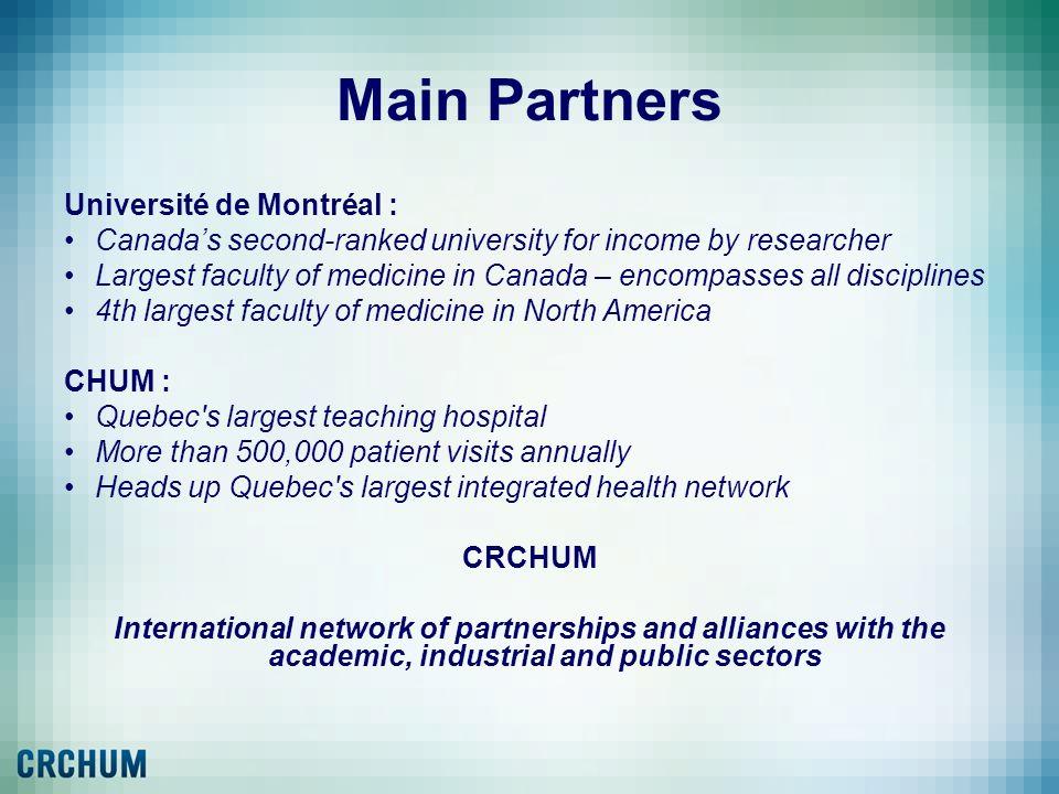 Main Partners Université de Montréal :