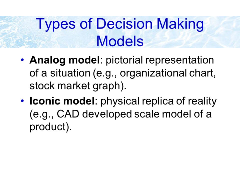 Types of Decision Making Models