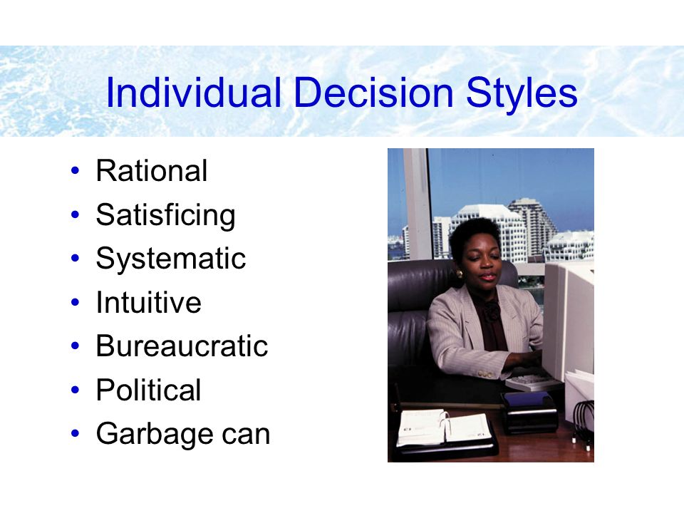 Individual Decision Styles