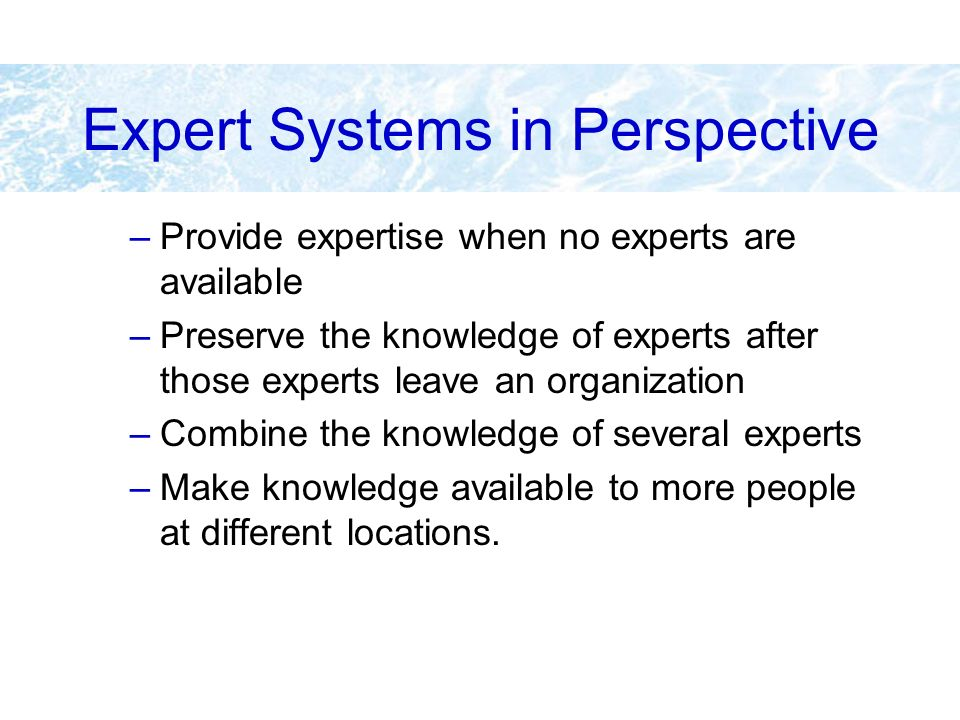 Expert Systems in Perspective