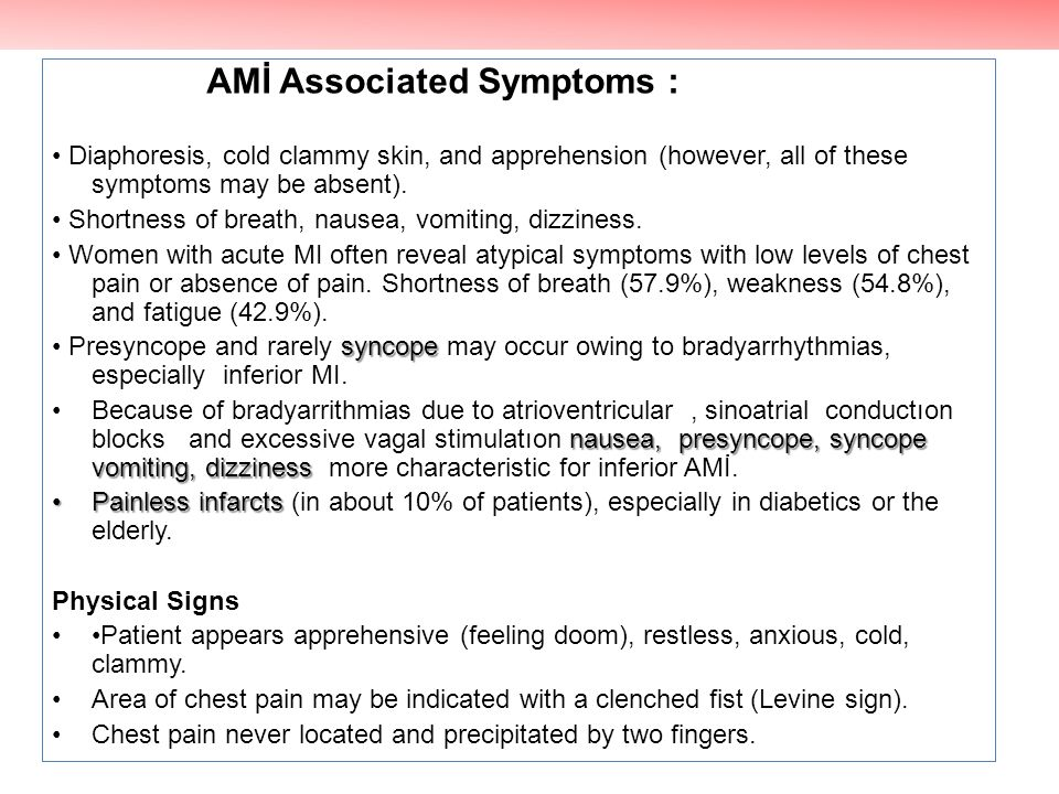 AMİ Associated Symptoms :