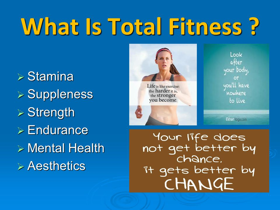 What Is Total Fitness Stamina Suppleness Strength Endurance