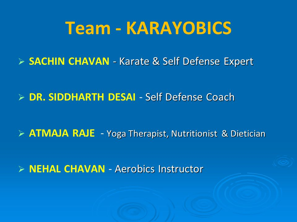 Team - KARAYOBICS SACHIN CHAVAN - Karate & Self Defense Expert