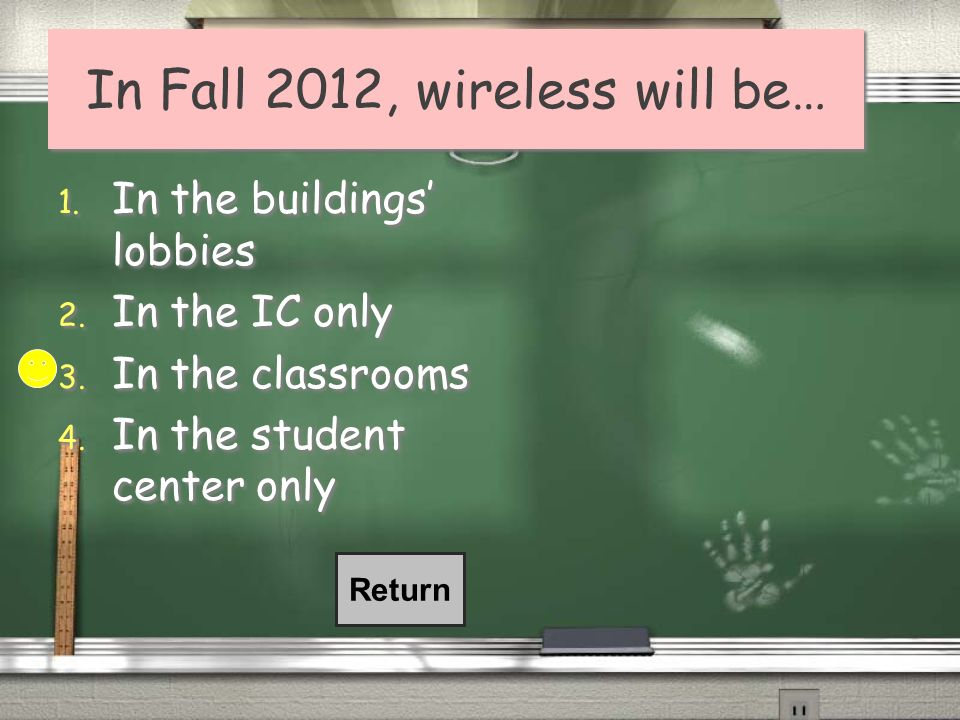 In Fall 2012, wireless will be…