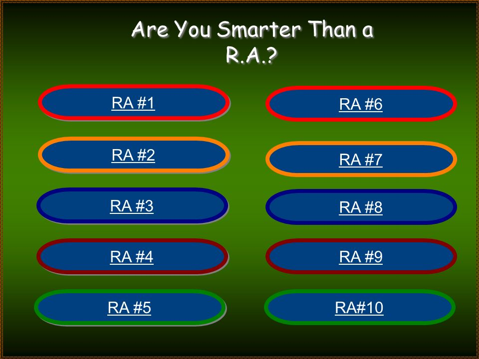 Are You Smarter Than a R.A.