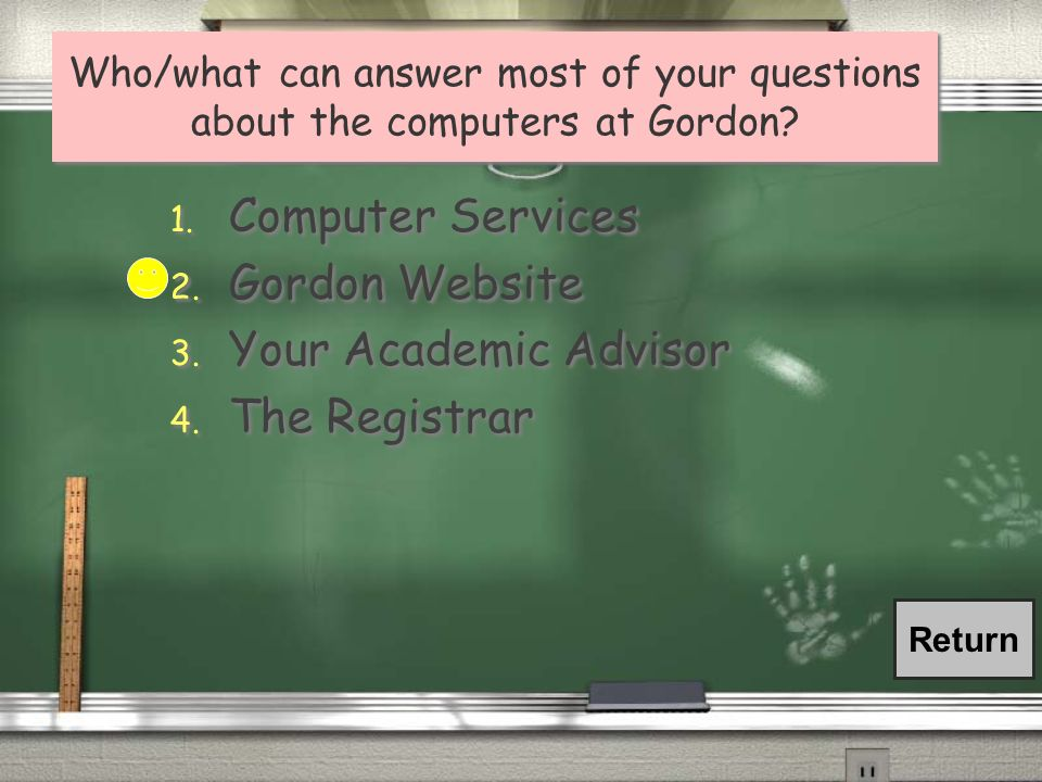 Computer Services Gordon Website Your Academic Advisor The Registrar