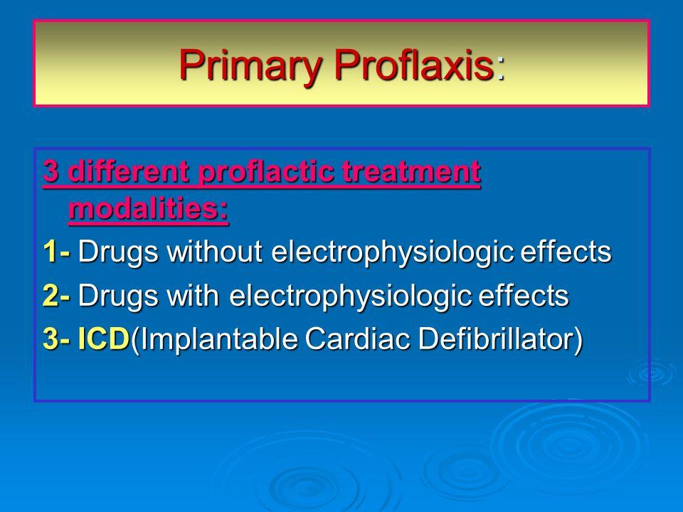 Primary Proflaxis: 3 different proflactic treatment modalities:
