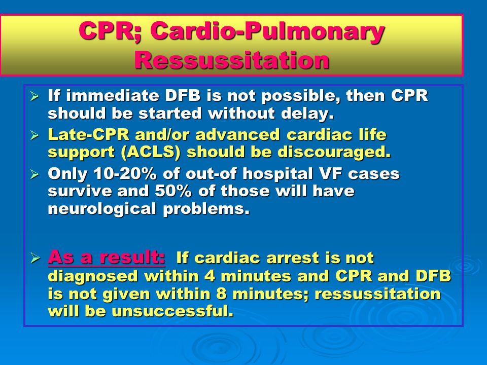 CPR; Cardio-Pulmonary Ressussitation