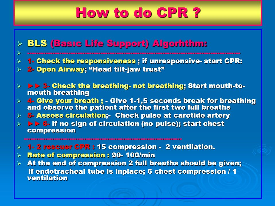 How to do CPR BLS (Basıc Life Support) Algorhthm: