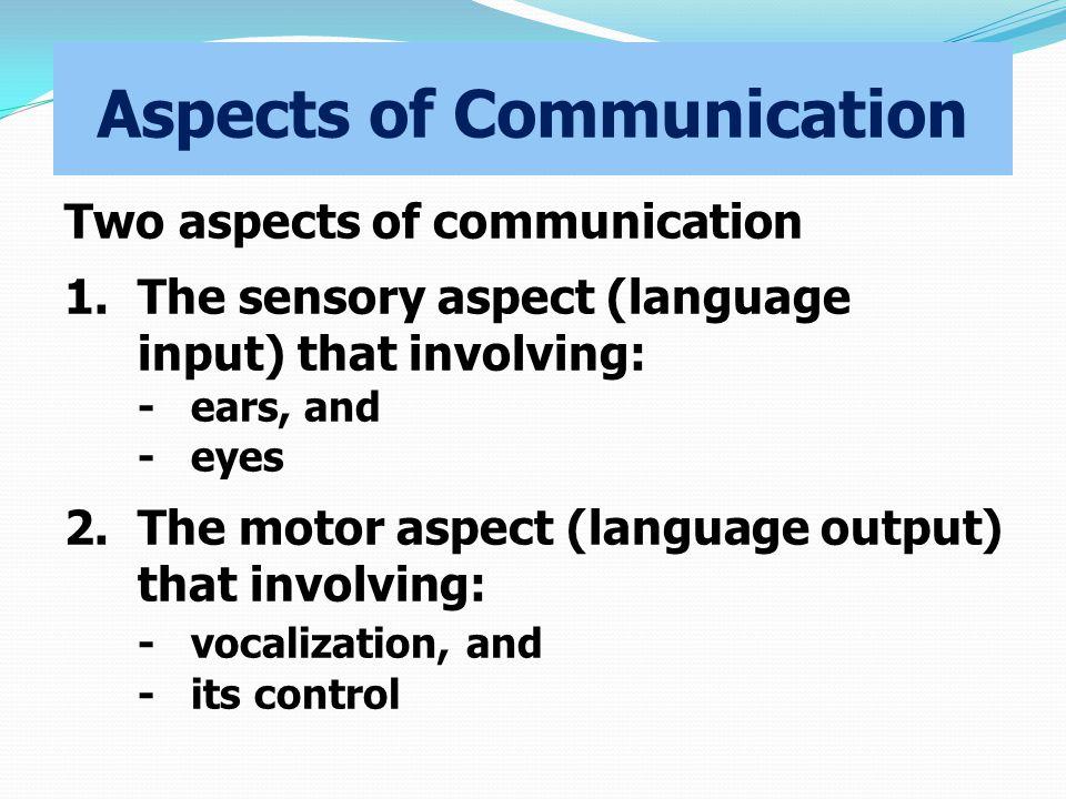 Aspects of Communication