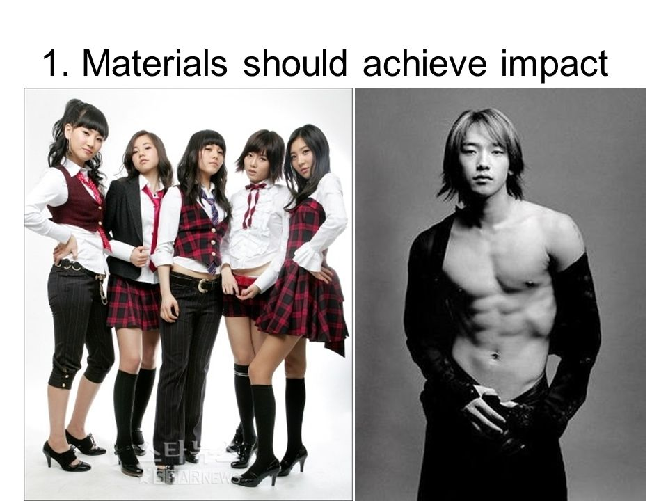 1. Materials should achieve impact